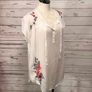 Johnny Was Embroidered Peasant Top